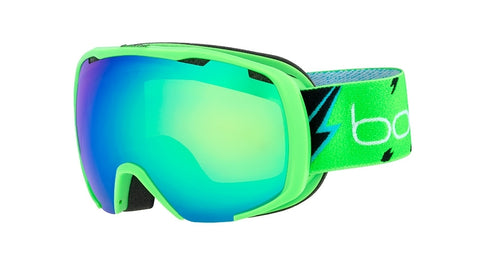 Bolle - Royal Matte Green Flash Snow Goggles / Green Emerald Lenses