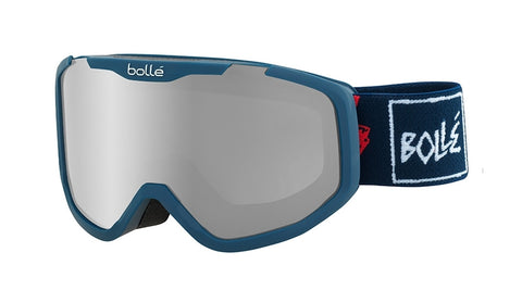 Bolle - Rocket Plus Matte Blue Skull Snow Goggles / Black Chrome Lenses