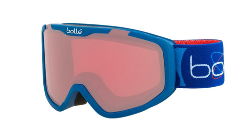 Bolle - Rocket Matte Blue Aerospace Snow Goggles / Vermillon Lenses