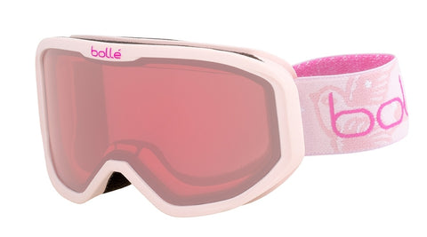 Bolle - Inuk Matte Pink Stars Snow Goggles / Vermillon Lenses