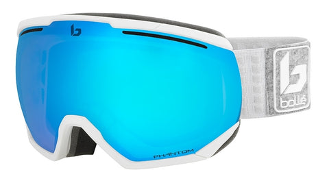 Bolle - Northstar Matte White Grey Snow Goggles / Phantom Vermillion Blue Lenses