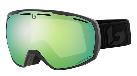 Bolle - Laika Matte Black Corp Phantom Snow Goggles / Green Emerald Lenses