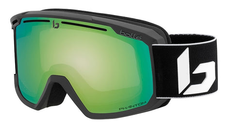 Bolle - Maddox Matte Black Corp Phantom Snow Goggles / Green Emerald Lenses