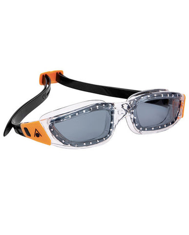 Aqua Sphere - Kameleon Transparent Orange Accents Swim Goggles / Smoke Lenses