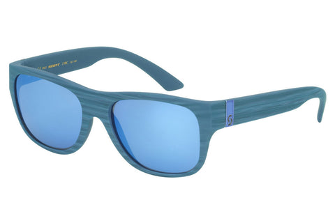 Scott - Lyric Blue Matte Sunglasses, Blue Chrome Lenses