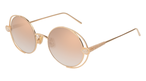 Boucheron - BC0031S Gold Sunglasses / Grey Lenses
