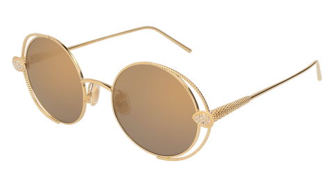 Boucheron - BC0031S Gold Sunglasses / Bronze Lenses