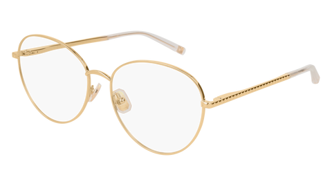 Boucheron - BC0043O Light Gold Eyeglasses / Demo Lenses