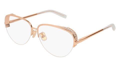 Boucheron - BC0049O Gold Eyeglasses / Demo Lenses
