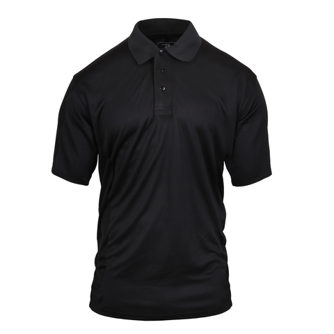 Rothco - Moisture Wicking Black Polo Shirt