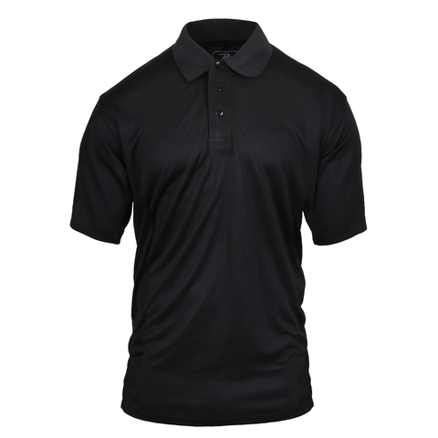 Rothco - Moisture Wicking Security Black Polo Shirt