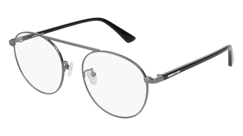 McQ - MQ0150OA 54mm Ruthenium Eyeglasses / Demo Lenses