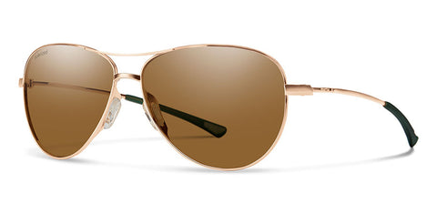 Smith - Langley Matte Rose Gold Sunglasses / Polarized Brown Lenses