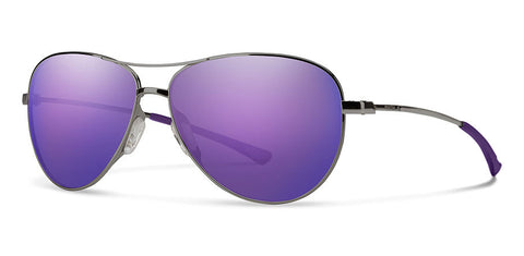 Smith - Langley Violet Ruthenium Sunglasses / Violet Mirror Lenses