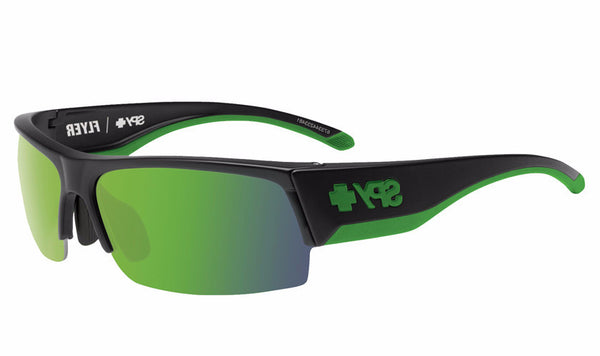 Spy - Flyer Green Sunglasses, Happy Bronze W/ Green Spectra + Happy Rose + Clear Lenses