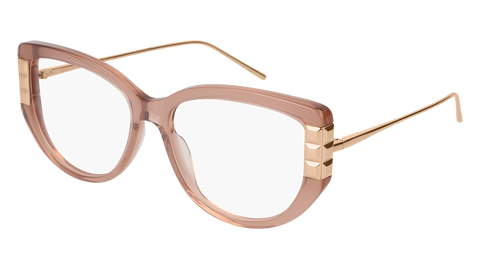 Boucheron - BC0051O Nude Gold Eyeglasses / Demo Lenses