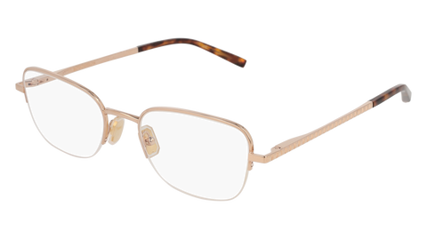 Boucheron - BC0054O Gold Havana Eyeglasses / Demo Lenses