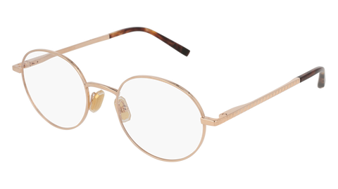 Boucheron - BC0055O Gold Havana Eyeglasses / Demo Lenses