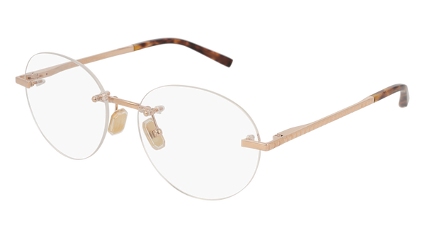 Boucheron - BC0056O Gold Havana Eyeglasses / Demo Lenses