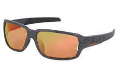 Scott - Obsess ACS Black Matte / Neon Orange Sunglasses, Red Chrome Amplifier Lenses