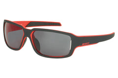 Scott - Obsess ACS Black / Red Matte Sunglasses, Grey Chrome Lenses