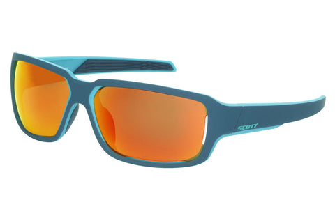 Scott - Obsess ACS Blue Matte Sunglasses, Red Chrome Lenses