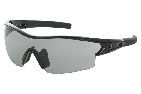 Scott - Leap Black Glossy Sunglasses, Grey + Clear Lenses