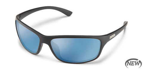 Suncloud - Sentry Matte Black Sunglasses / Polarized Blue Mirror Lenses