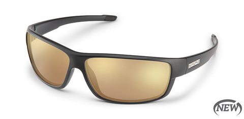 Suncloud - Voucher Matte Black Sunglasses / Polarized Sienna Mirror Lenses