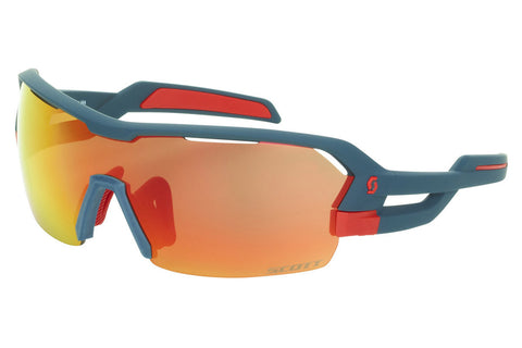 Scott - Spur Dark Blue Matte / Red Sunglasses, Red Chrome + Clear Lenses