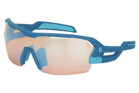 Scott - Spur Blue Matte Sunglasses, Blue Chrome Amplifier + Clear Lenses