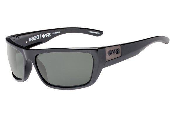 Spy - Dega Black Sunglasses, Happy Grey Green Lenses