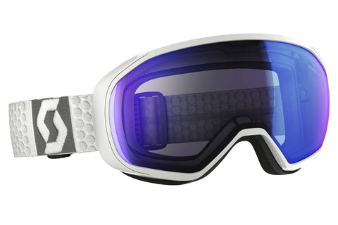 Scott - FIX White Goggles, Illuminator Blue Chrome Lenses