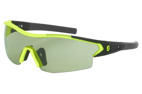 Scott - Leap LS Black Matte / Neon Yellow Sunglasses, Grey Light Sensitive + Clear Lenses