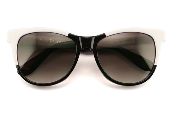 Wildfox - Catfarer Factory Black & White Sunglasses