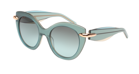Pomellato - PM0004S 50mm Green Sunglasses / Yellow Green Lenses