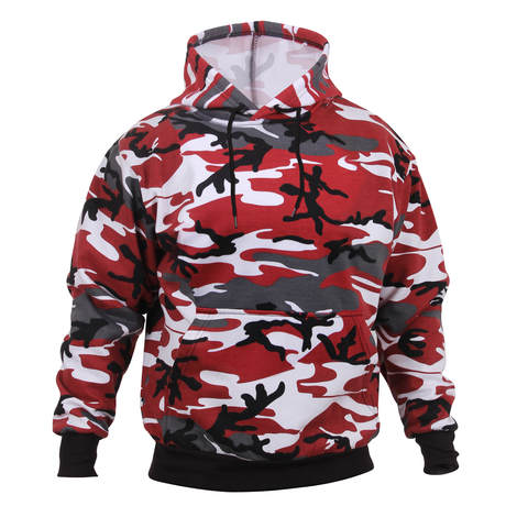 Rothco - Hooded Pullover Red Camo Sweatshirt