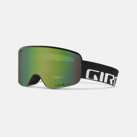 Giro - Axis Asian Fit Black Wordmark Snow Goggles / Vivid Emerald + Vivid Infrared Lenses