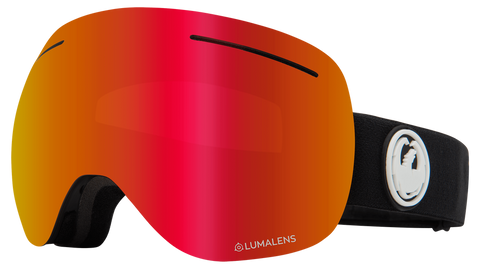 Dragon - X1 LL Black Snow Goggles / Red Ion + Rose Lenses