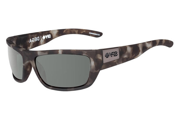 Spy - Dega Soft Matte Smoke Tort Sunglasses, Happy Grey Green Lenses