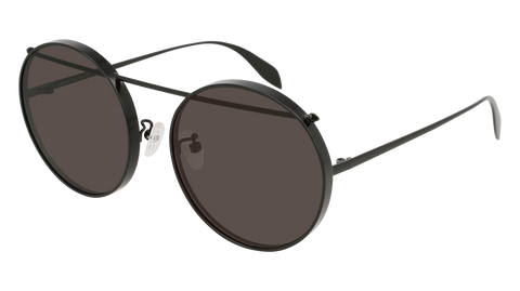 Alexander McQueen - AM0137SA Black Sunglasses / Grey Lenses