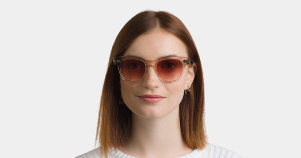 Garrett Leight - Ulla Johnson Paloma Sunglasses / Semi Flat Yellow Brown Gradient Lenses