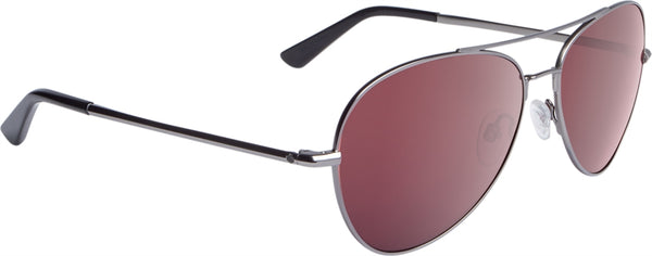 Spy - Whistler Matte Gunmetal Sunglasses / Happy Rose Polarized + Light Silver Spectra Lenses