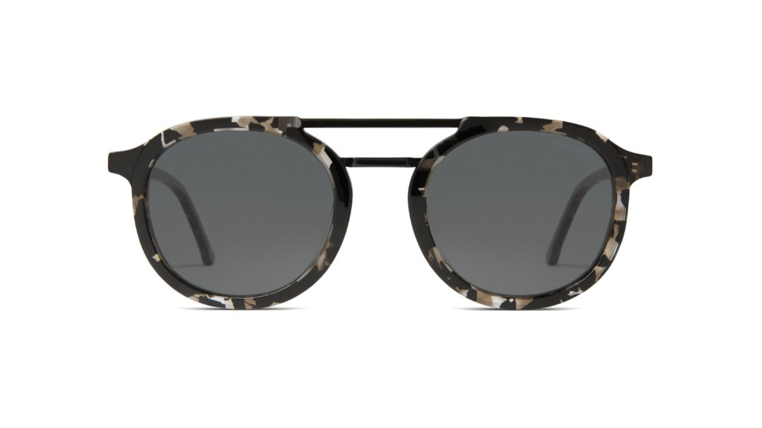 Komono - The Gilles Clear Demi Sunglasses / Black Smoke Lenses