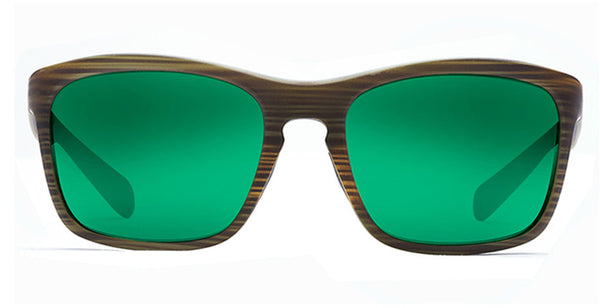Native - Penrose Wood Sunglasses, Green Reflex Lenses