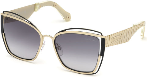Roberto Cavalli - RC1096 Montopoli Gold Sunglasses / Gradient Smoke Lenses