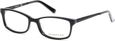 Rampage - RA0207 Shiny Black Eyeglasses / Demo Lenses