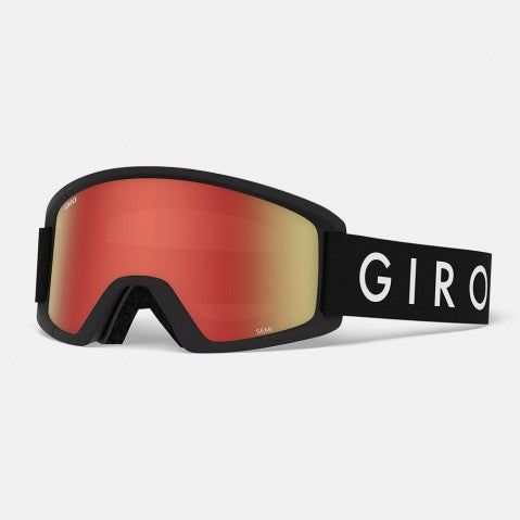 Giro - Semi Black Core Snow Goggles / Amber Scarlet + Yellow Lenses