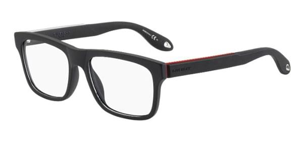 Givenchy - GV 0018 Black Red Eyeglasses / Demo Lenses