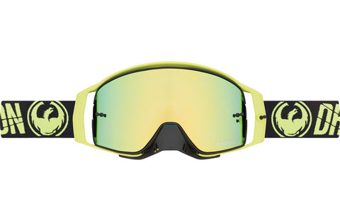 Dragon - NFX2 Merge High Vision MX Goggles / Injected Smoke Gold Ion + 10 Pack Tear Offs + Lens Shield Lenses